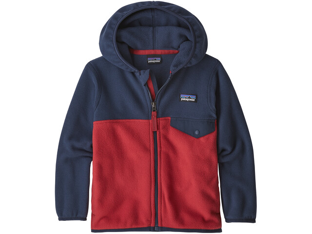 Patagonia Micro D Snap-T Jacket Barn fire with neo navy